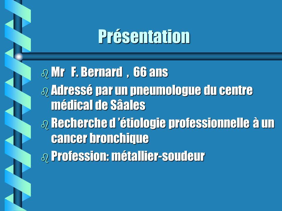 Présentation Mr F. Bernard , 66 ans
