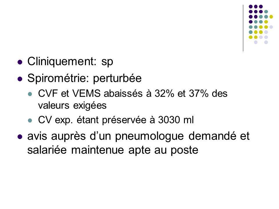 Spirométrie: perturbée