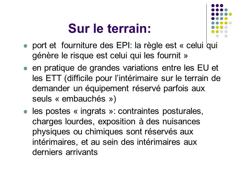 Sur le terrain: port et fourniture des EPI: la règle est « celui qui génère le risque est celui qui les fournit »