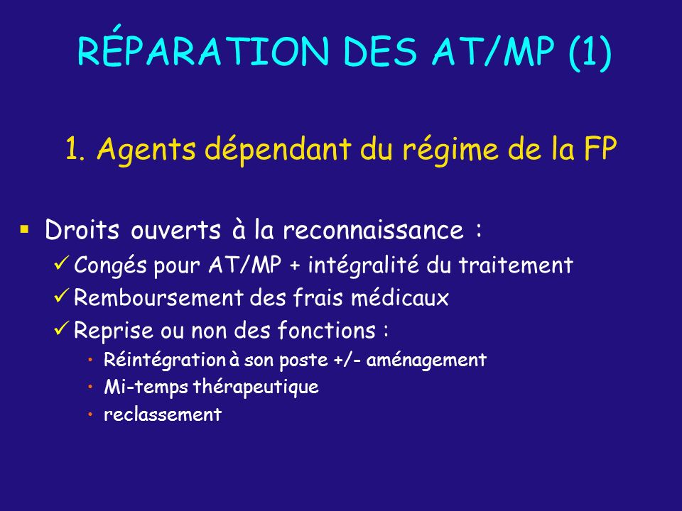 RÉPARATION DES AT/MP (1)