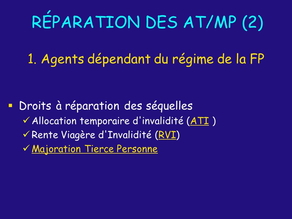 RÉPARATION DES AT/MP (2)