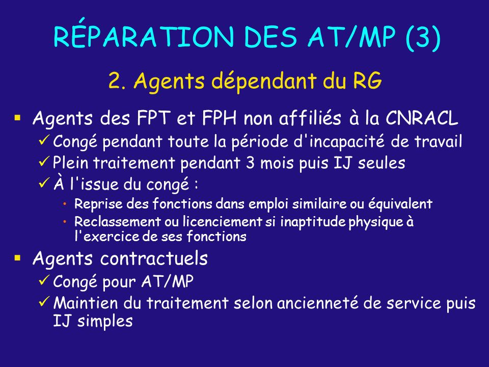 RÉPARATION DES AT/MP (3)