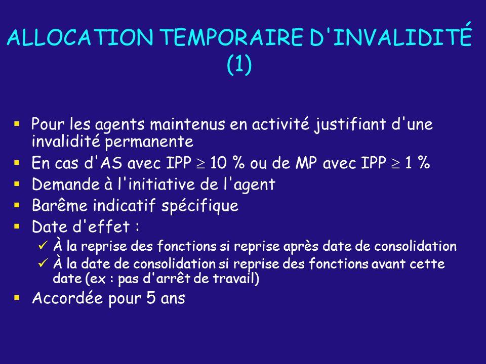 ALLOCATION TEMPORAIRE D INVALIDITÉ (1)