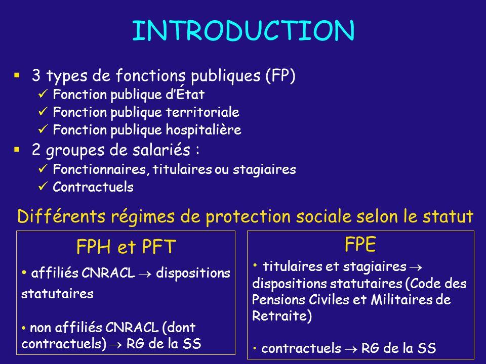 Différents régimes de protection sociale selon le statut