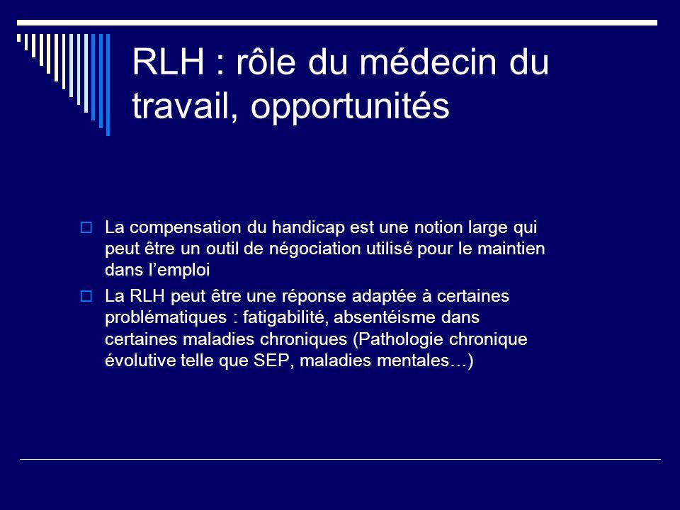 RLH : rôle du médecin du travail, opportunités