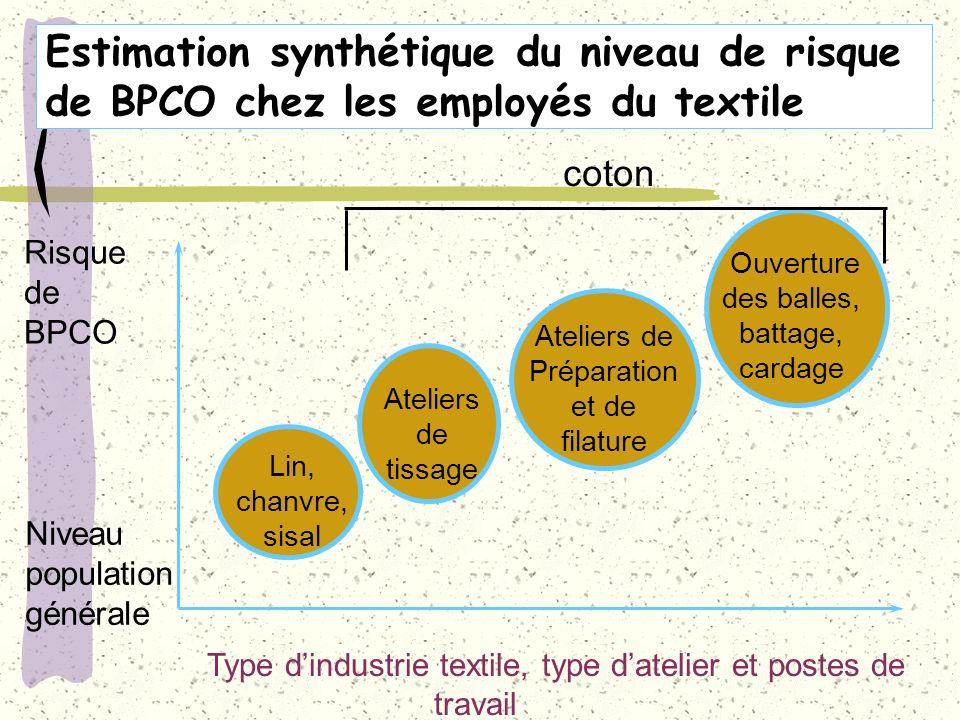 Estimation synthétique du niveau de risque de BPCO chez les employés du textile