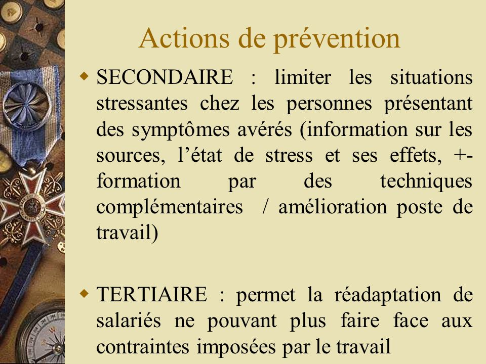 Actions de prévention