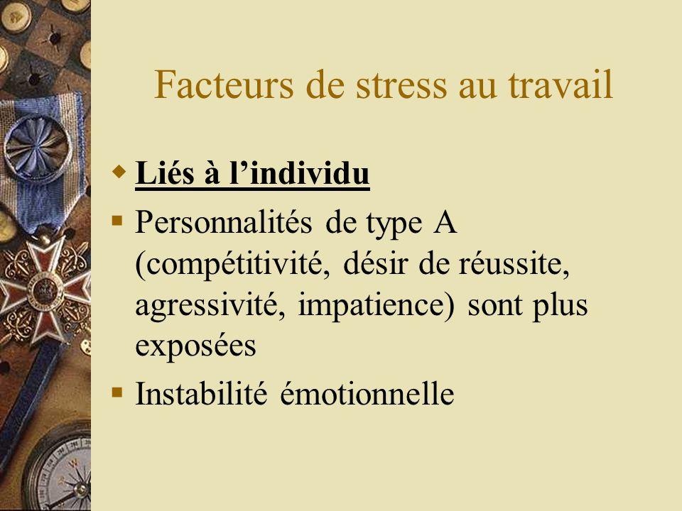Facteurs de stress au travail