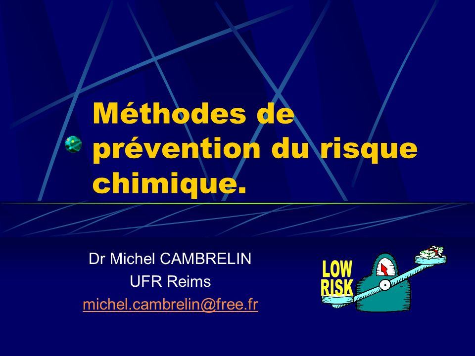 Méthodes de prévention du risque chimique.