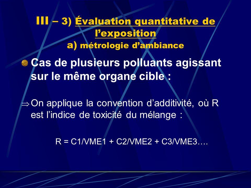 R = C1/VME1 + C2/VME2 + C3/VME3….