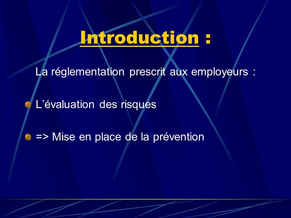 La réglementation prescrit aux employeurs :