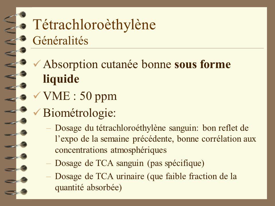 Tétrachloroèthylène Généralités