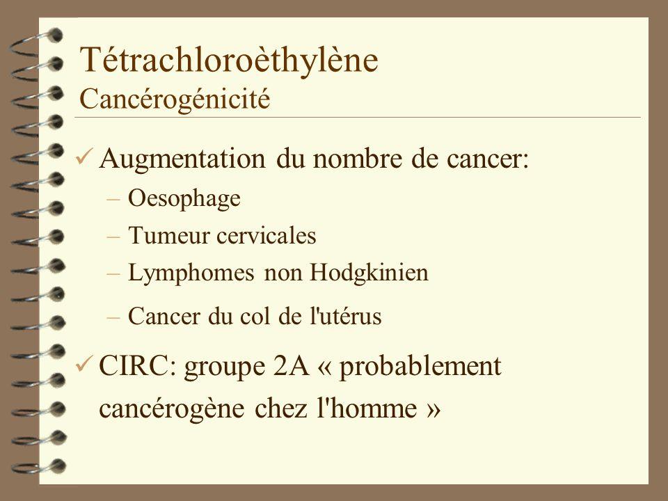 Tétrachloroèthylène Cancérogénicité