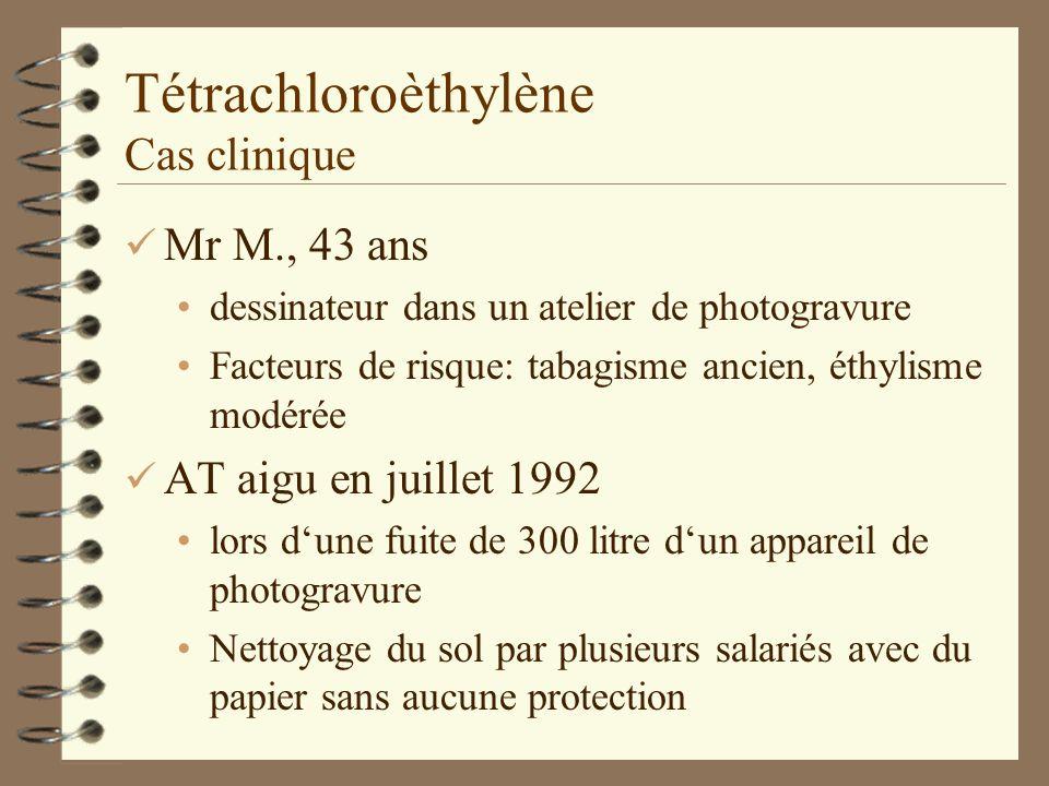 Tétrachloroèthylène Cas clinique