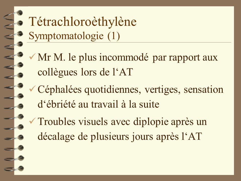 Tétrachloroèthylène Symptomatologie (1)