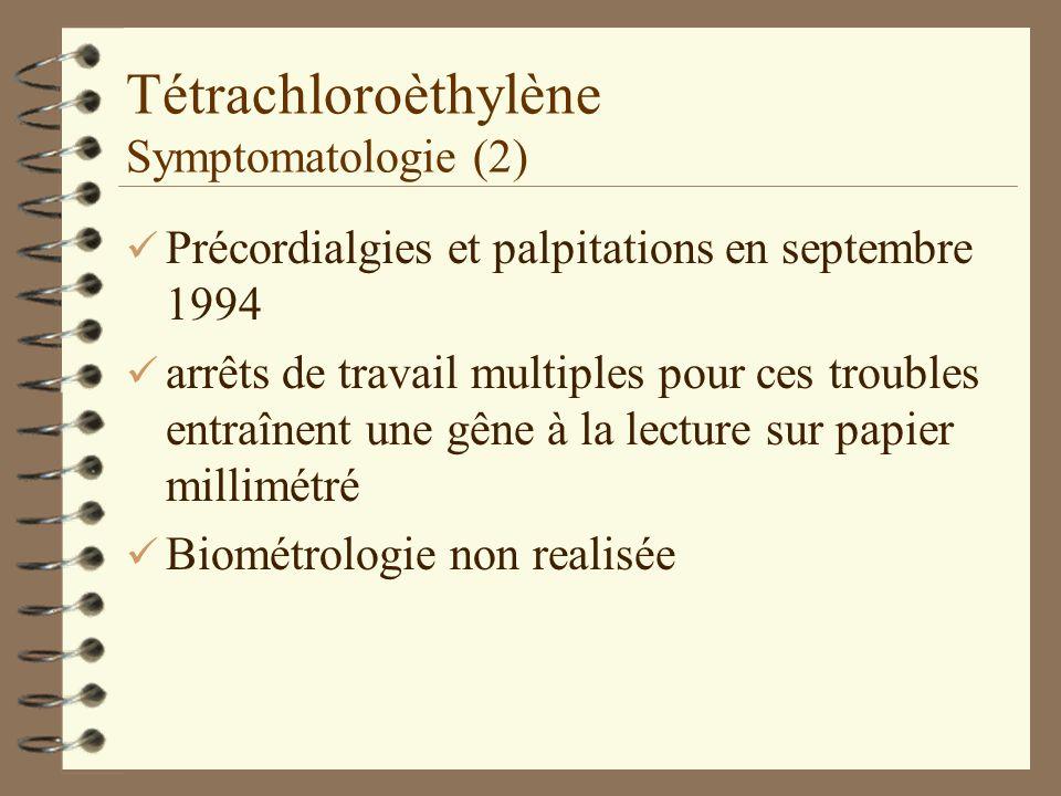 Tétrachloroèthylène Symptomatologie (2)