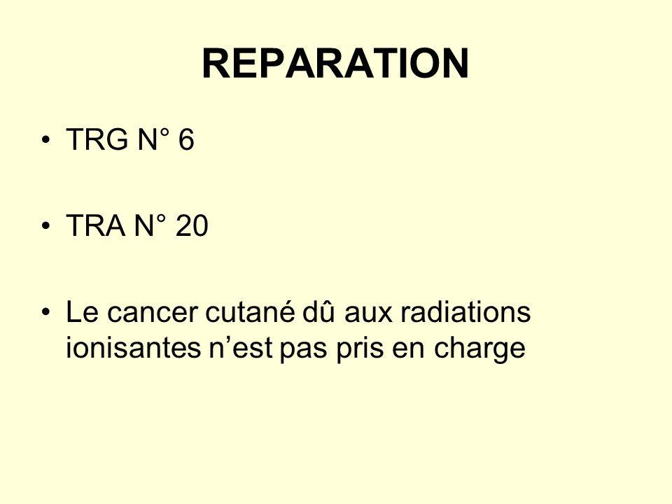 REPARATION TRG N° 6 TRA N° 20