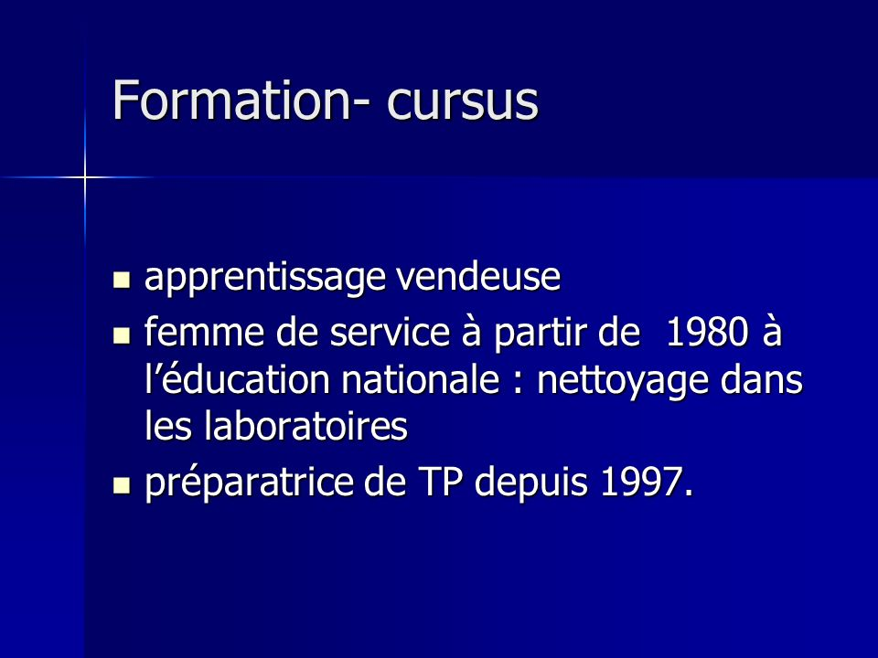 Formation- cursus apprentissage vendeuse