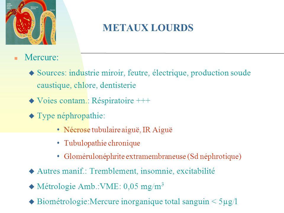 METAUX LOURDS Mercure: