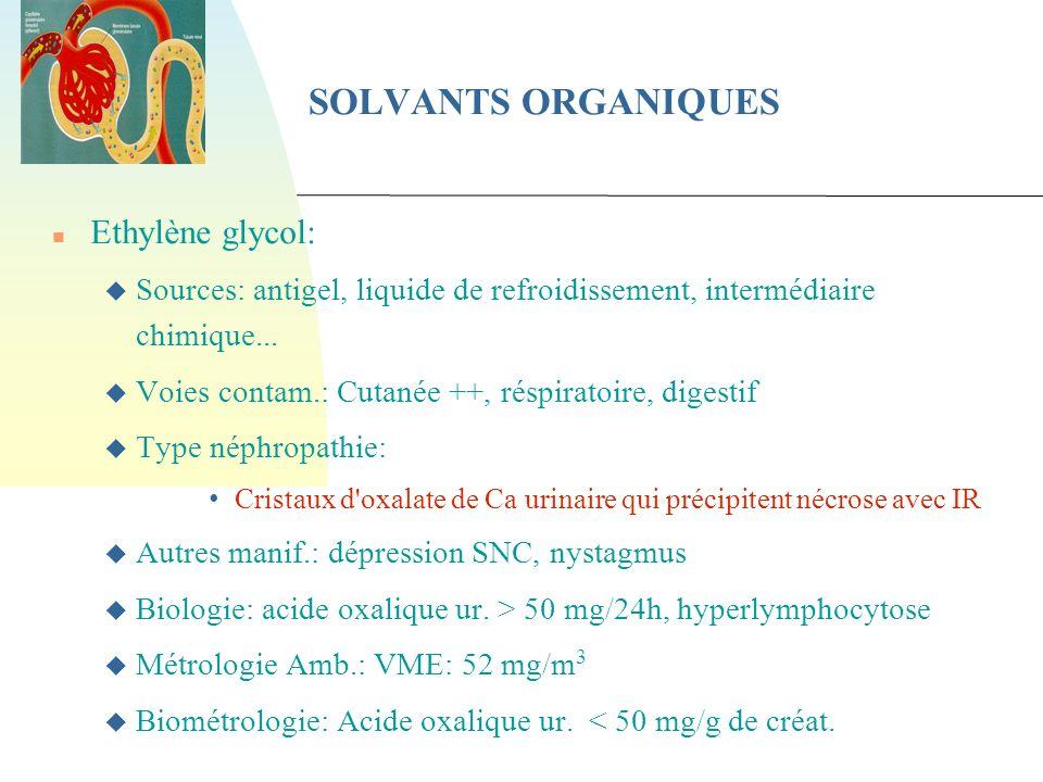 SOLVANTS ORGANIQUES Ethylène glycol: