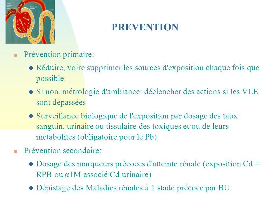 PREVENTION Prévention primaire: