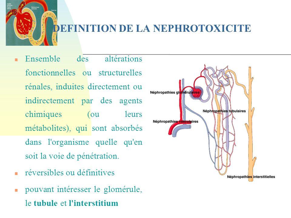 DEFINITION DE LA NEPHROTOXICITE