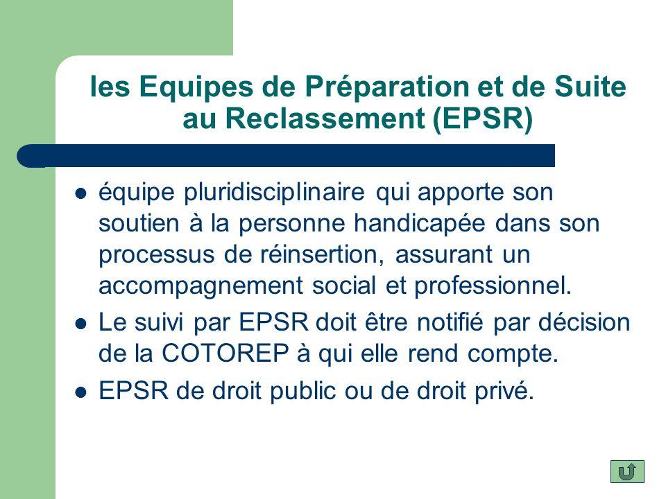 les Equipes de Préparation et de Suite au Reclassement (EPSR)