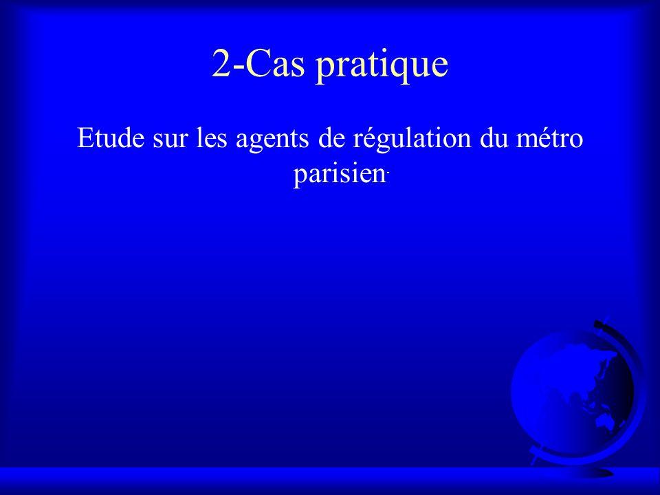 Etude sur les agents de régulation du métro parisien.