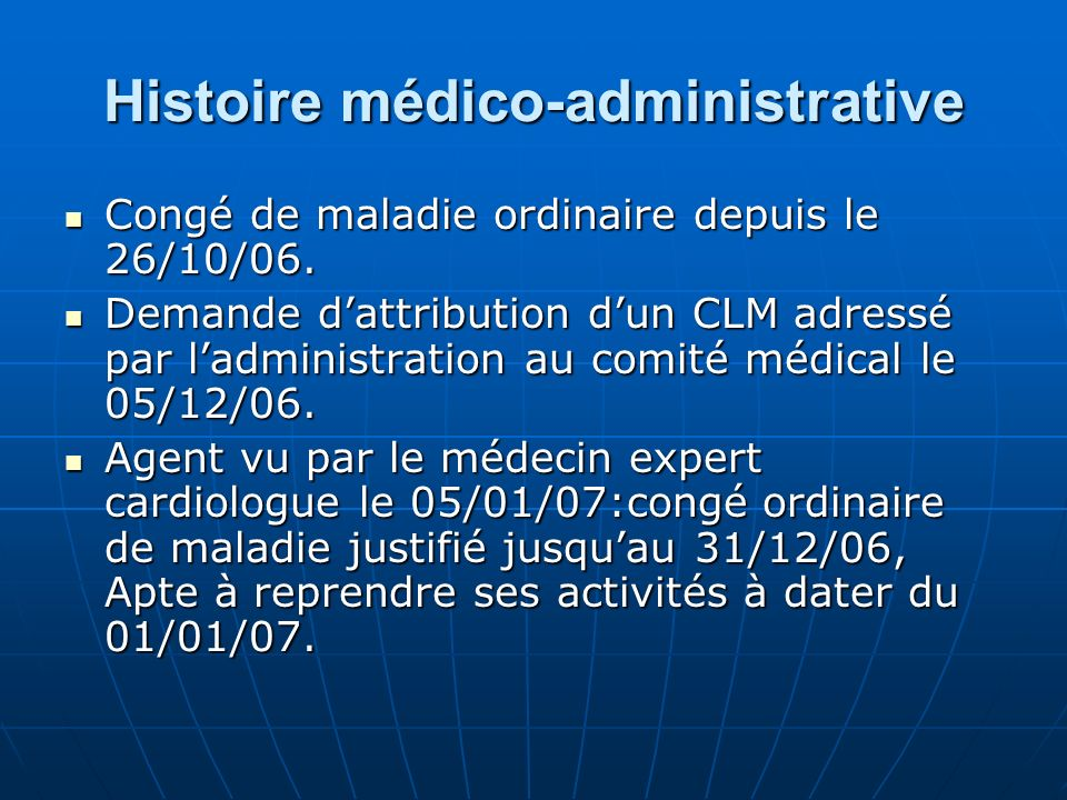 Histoire médico-administrative