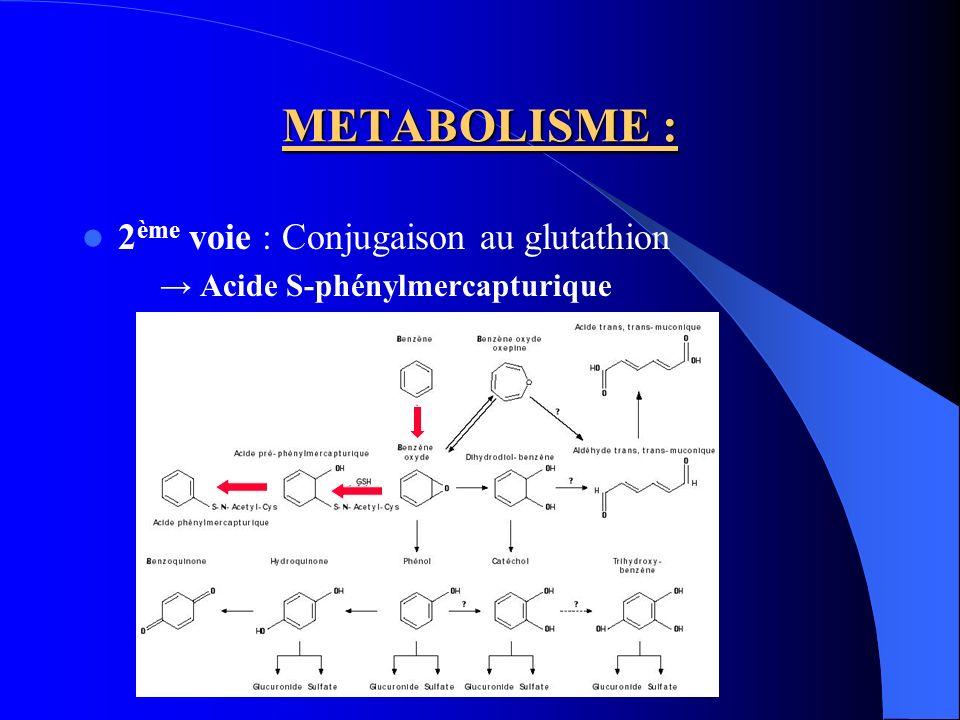 METABOLISME : 2ème voie : Conjugaison au glutathion