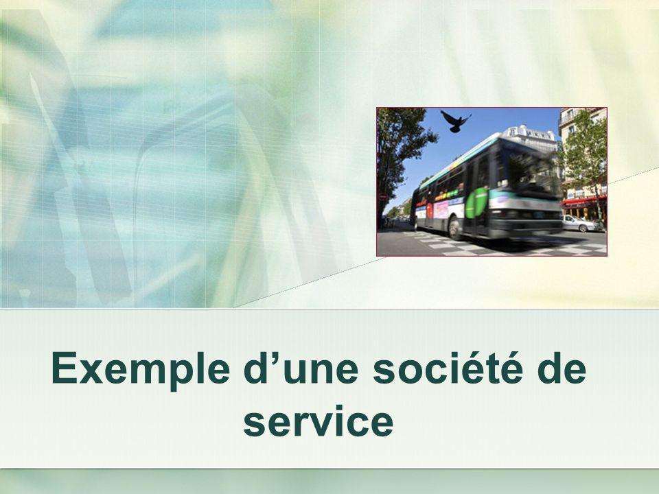 Exemple d'une société de service