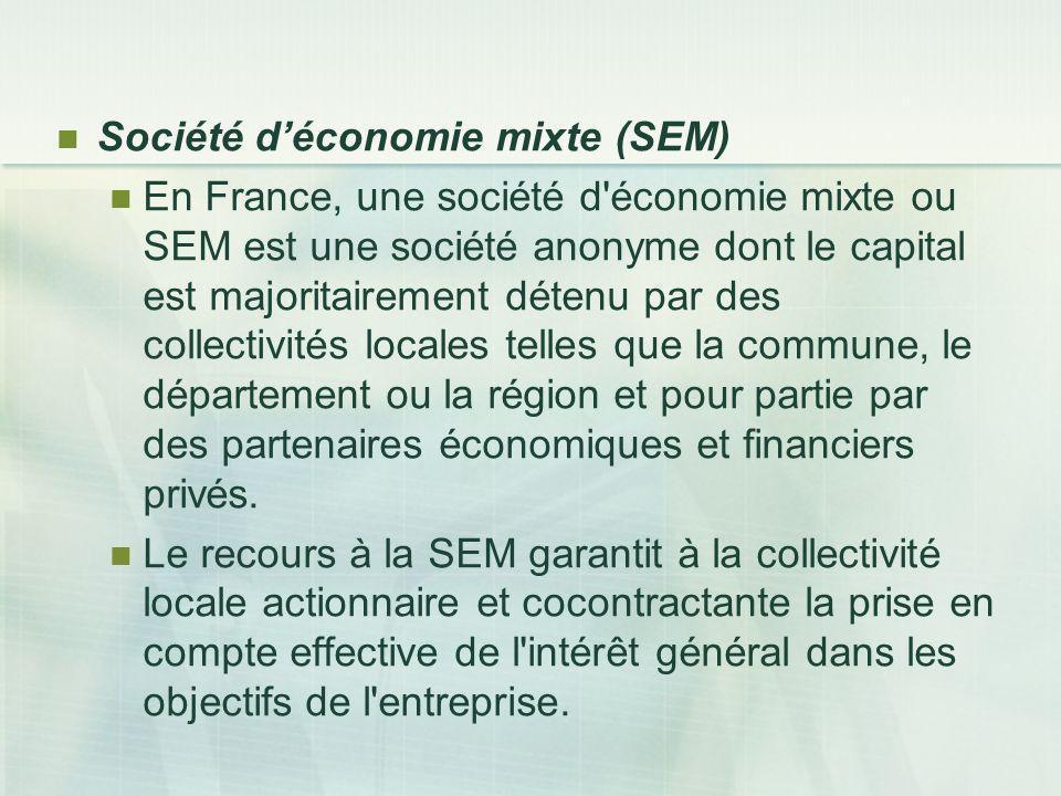 Société d'économie mixte (SEM)