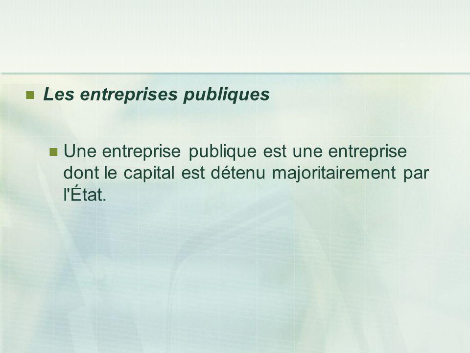 Les entreprises publiques