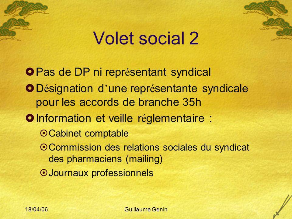 Volet social 2 Pas de DP ni représentant syndical