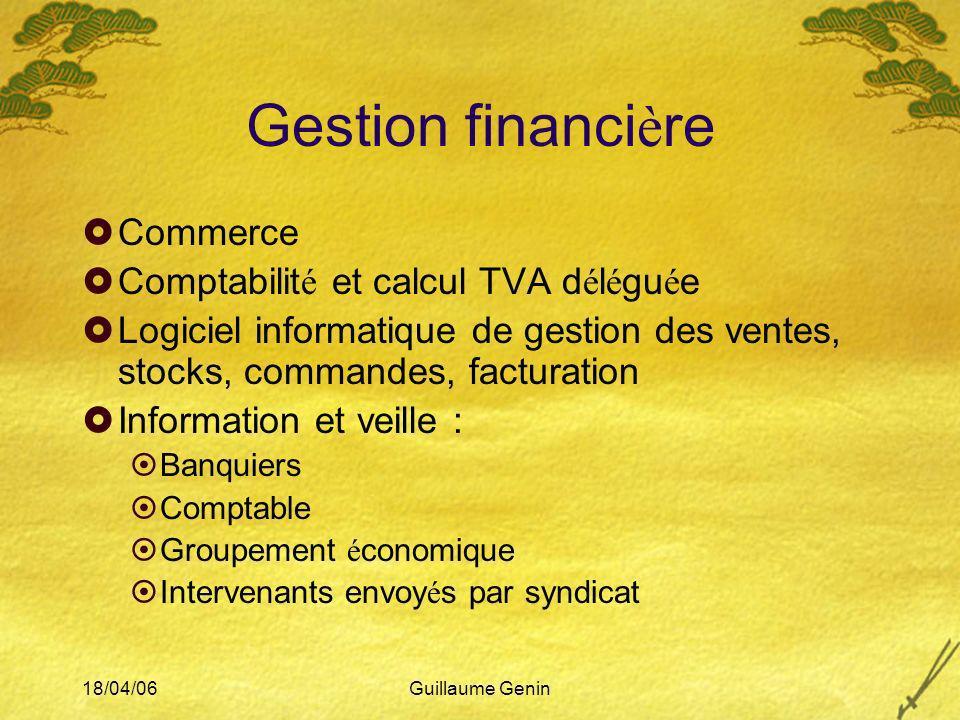 Gestion financière Commerce Comptabilité et calcul TVA déléguée