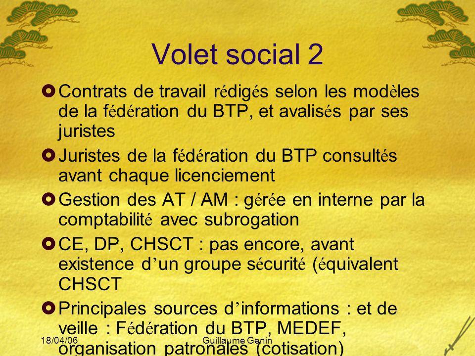 Volet social 2 Contrats de travail rédigés selon les modèles de la fédération du BTP, et avalisés par ses juristes.