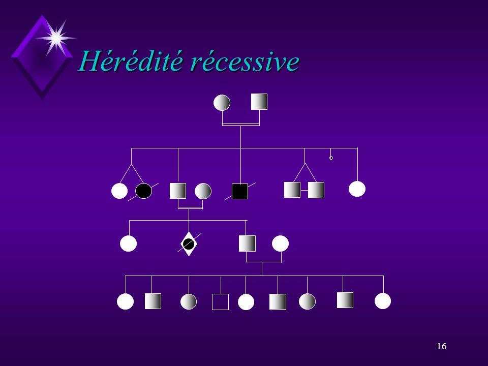 Hérédité récessive