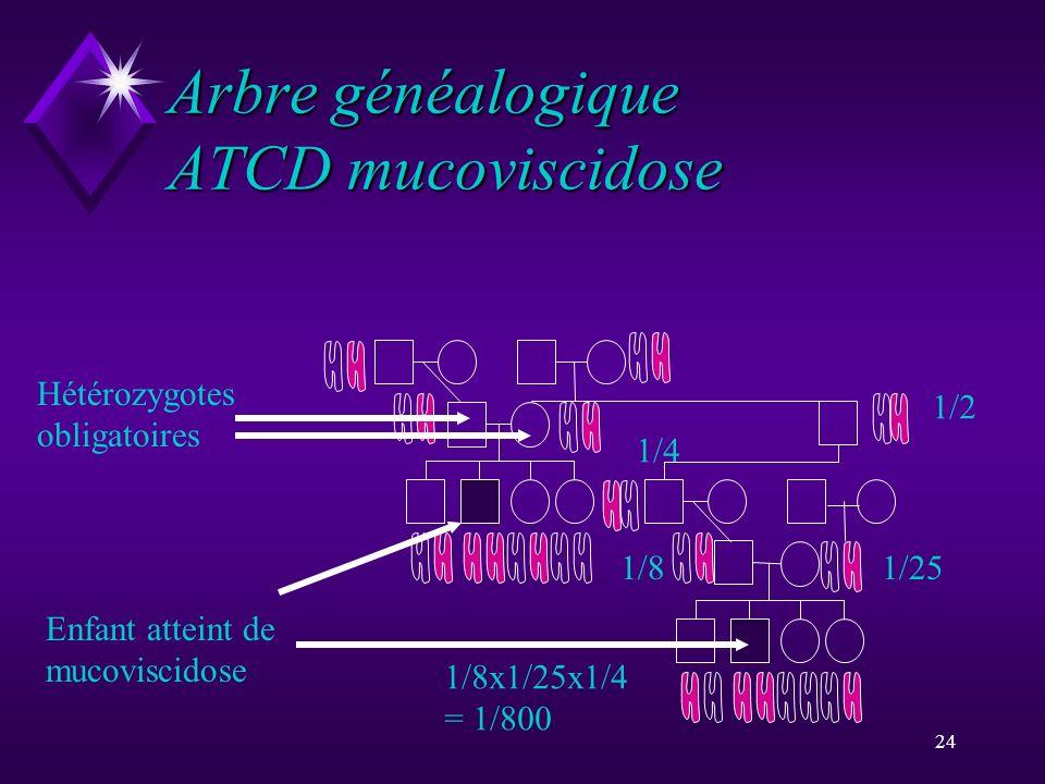 Arbre généalogique ATCD mucoviscidose