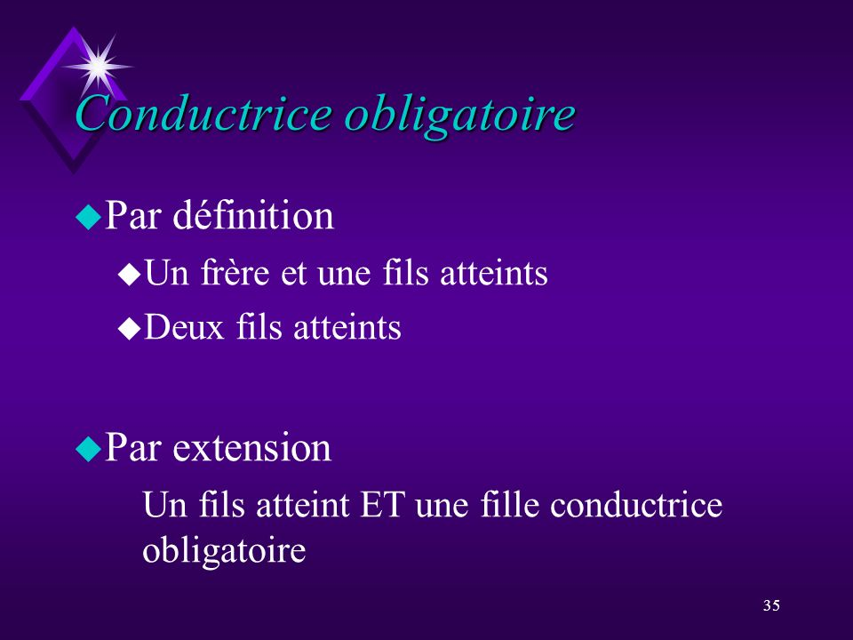 Conductrice obligatoire