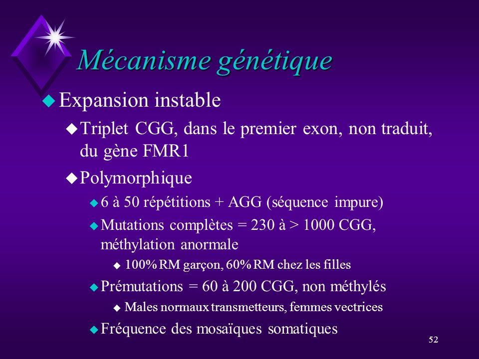 Mécanisme génétique Expansion instable