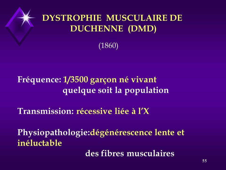 DYSTROPHIE MUSCULAIRE DE