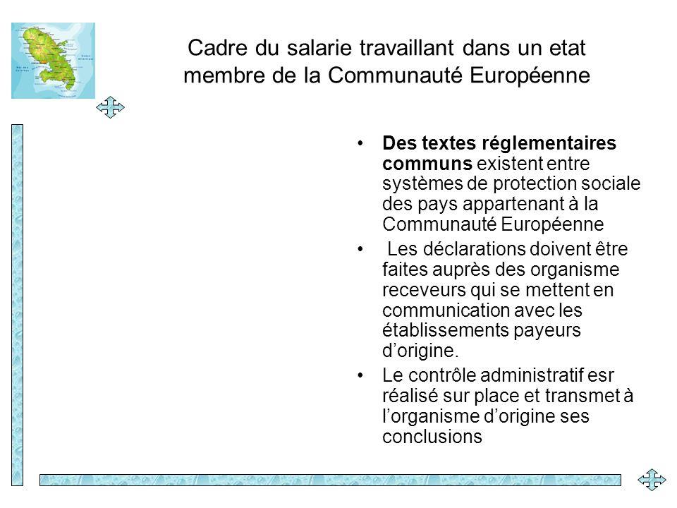 Cadre du salarie travaillant dans un etat membre de la Communauté Européenne