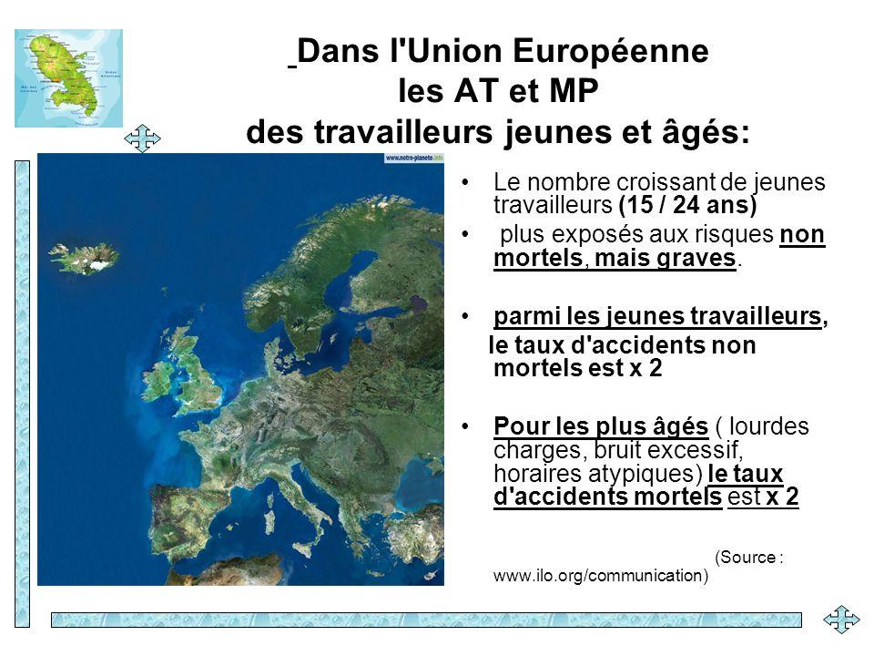 Dans l Union Européenne les AT et MP des travailleurs jeunes et âgés: