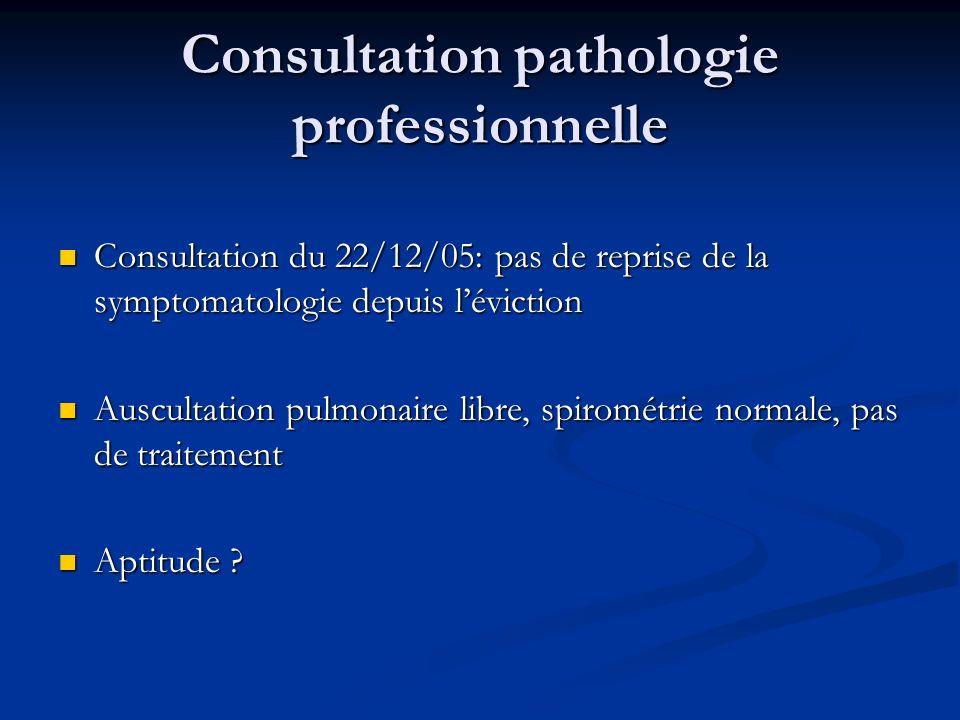 Consultation pathologie professionnelle