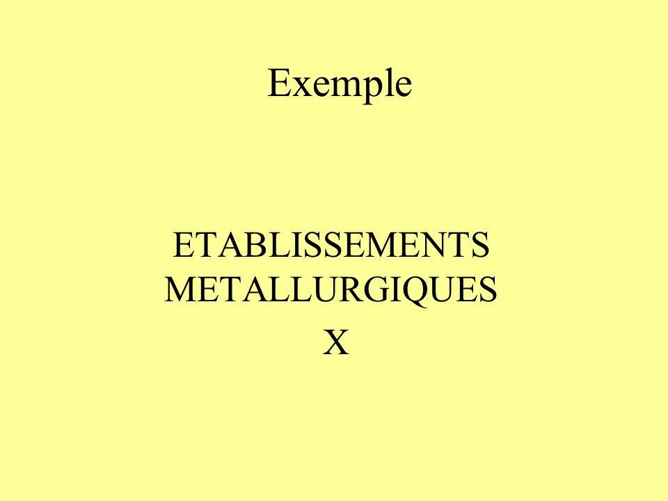 ETABLISSEMENTS METALLURGIQUES X