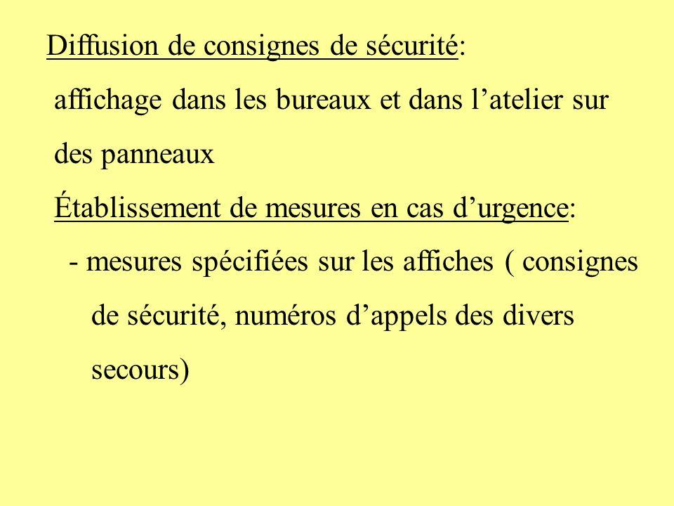 Diffusion de consignes de sécurité: