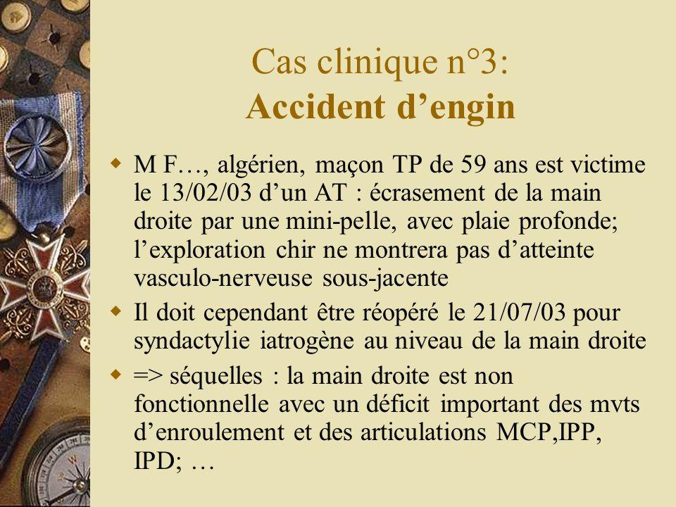 Cas clinique n°3: Accident d'engin