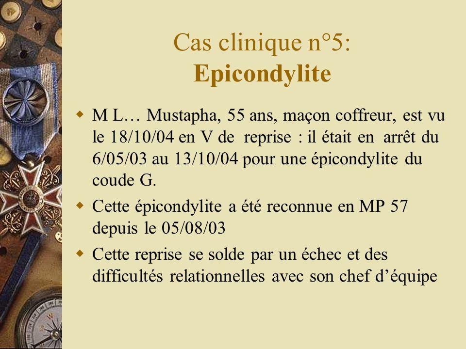 Cas clinique n°5: Epicondylite