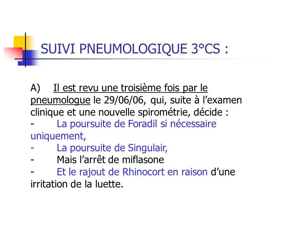 SUIVI PNEUMOLOGIQUE 3°CS :