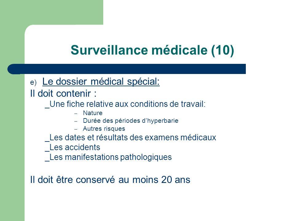Surveillance médicale (10)